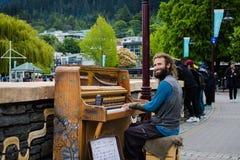 钢琴人 免版税库存照片