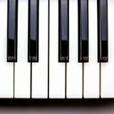钢琴关键字 免版税库存照片
