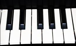 钢琴关键键盘图象模板 免版税库存图片