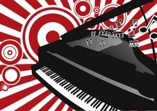 钢琴向量 免版税图库摄影