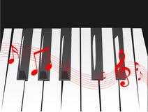 钢琴向量 皇族释放例证