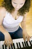 钢琴实践 库存图片