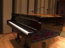 钢琴工作室 免版税图库摄影