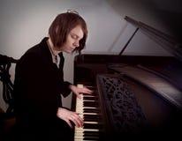 钢琴演奏家 库存照片