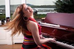 钢琴演奏者 图库摄影