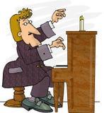 钢琴演奏者 皇族释放例证