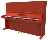 钢琴红色 皇族释放例证