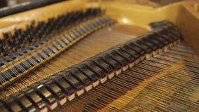 钢琴钢琴的内在机制 股票视频