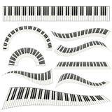 钢琴kayboard集合例证 库存图片