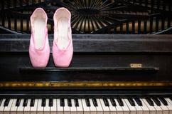 钢琴pointe 免版税库存图片