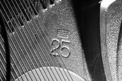 钢琴soundboard标号 库存照片