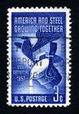 钢生长美国邮票 库存图片