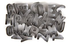 从钢的字母表 库存照片