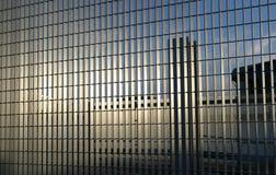 钢的栏杆 库存照片
