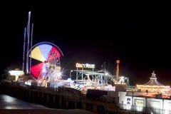 钢码头-大西洋城,新泽西(夜) 免版税库存图片