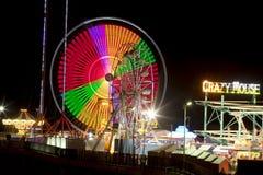 钢码头-大西洋城,新泽西(夜) 库存图片