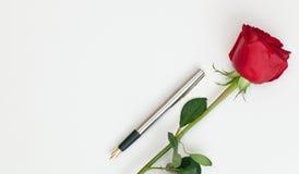 钢笔和上升了 免版税库存照片