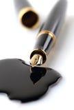 钢笔和墨水斑点 免版税库存图片