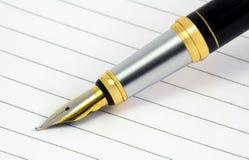 钢笔技巧 库存图片