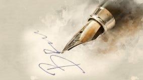 钢笔特写镜头 库存照片