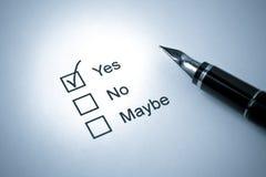 钢笔调查 免版税库存图片