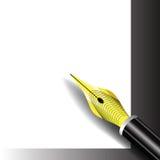 钢笔象 库存例证