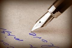 钢笔 免版税库存照片