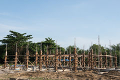 钢筋混凝土堆新的大厦 免版税图库摄影