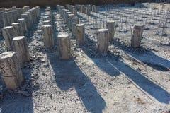 钢筋混凝土堆 免版税库存图片