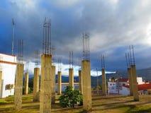 钢筋混凝土柱子 库存图片