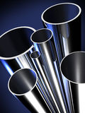 钢管制造原料 库存例证