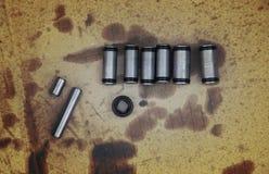 钢管和传输线性转移微型过滤器内部  图库摄影