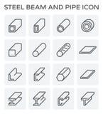 钢粱管子 库存例证