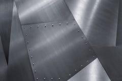 钢纹理背景 银色冷的铁金属纹理 图库摄影
