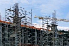钢结构在工地工作建设中 免版税库存图片