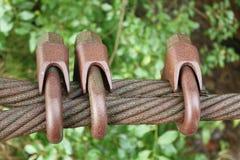 钢缆绳 免版税图库摄影