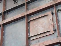 钢罐建设中 免版税库存照片