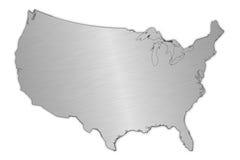 钢美国映射  免版税库存照片