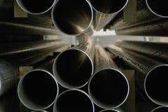 钢行业的管道 免版税图库摄影