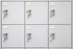 钢衣物柜 免版税库存图片