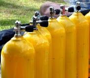 钢装瓶机智压缩空气 库存图片