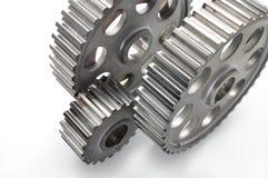 钢车齿轮 免版税库存照片
