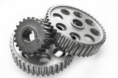 钢车齿轮 免版税库存图片