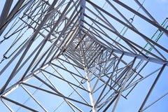 钢输电线支持 免版税图库摄影