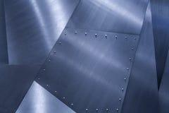 钢金属纹理,金属背景蓝色颜色 免版税库存图片