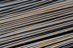 钢钢筋堆  免版税库存照片