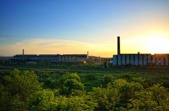 钢铁厂工厂 免版税库存照片