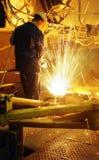 钢铁工 免版税图库摄影