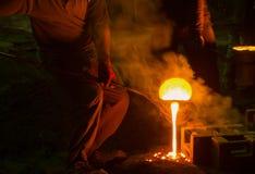 钢铁生产厂,熔化的铁 产业概念 图库摄影