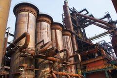 钢铁生产厂 免版税库存照片